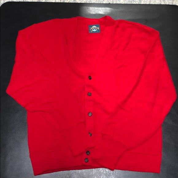 Other - Vintage Jantzen Red Cardigan Sweater